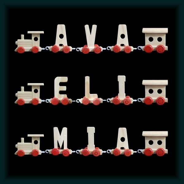 3 Letter Wooden Name Train