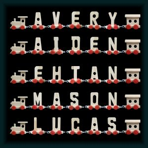 5 Letter Wooden Name Train