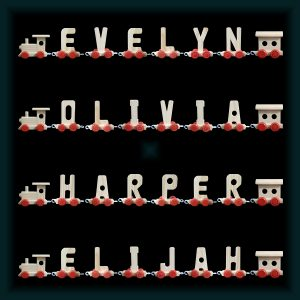 6 Letter Wooden Name Train