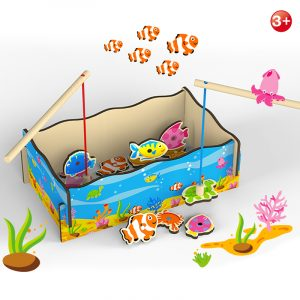 Lets Go Fishing!! Wooden Magnetic Marine Fishing Game